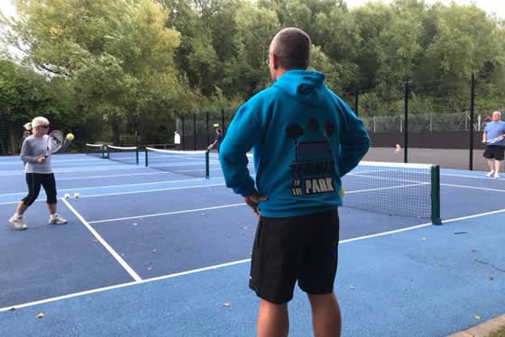 Visually Impaired tennis at droitwich lido