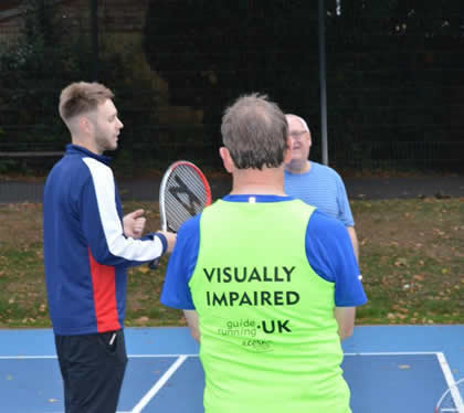 visually impaired tenis